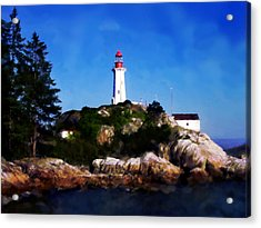 Lighthouse Acrylic Print by David Blank