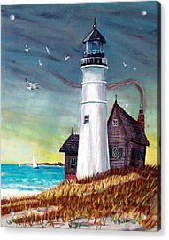 Lighthouse Acrylic Print by Debbie Baker