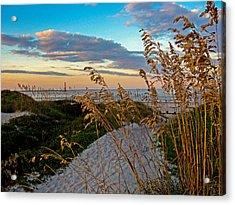 Lighthouse Folly Beach Acrylic Print