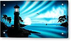 Lighthouse Acrylic Print by Frank Parrish