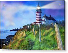 Lighthouse Acrylic Print by Gerry Robins