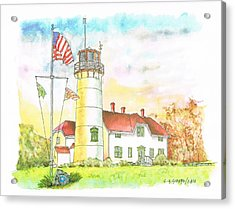 Lighthouse In Cape Code - Massachussetts Acrylic Print by Carlos G Groppa