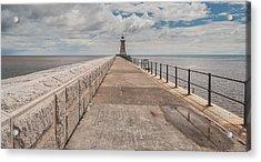 Lighthouse In North Shields Acrylic Print by Sergey Simanovsky