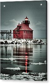 Lighthouse In The Darkness Acrylic Print