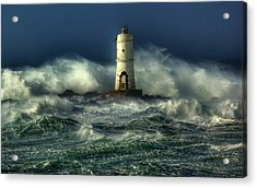 Lighthouse In The Storm Acrylic Print by Gianfranco Weiss
