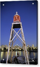Lighthouse In Vancouver  Canada Acrylic Print by Ryan Fox