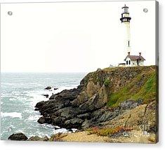 Lighthouse Keeping Watch Acrylic Print by Carla Carson