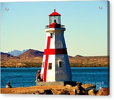 Lighthouse Lake Havasu Acrylic Print by John Potts
