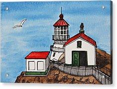 Lighthouse Acrylic Print by Masha Batkova