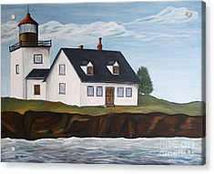 Lighthouse - New England Coast Sold Acrylic Print by Christiane Schulze Art And Photography