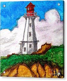 Lighthouse Nova Scotia Acrylic Print by Anita Lewis