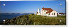 Lighthouse On A Landscape, Ft. Worden Acrylic Print by Panoramic Images