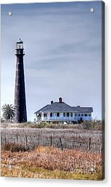 Lighthouse On Bolivar Peninsula Acrylic Print