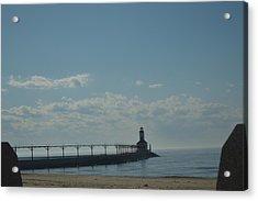 Lighthouse On Clear Day. Acrylic Print