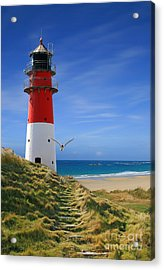 The Way To The Lighthouse Acrylic Print by Monika Juengling