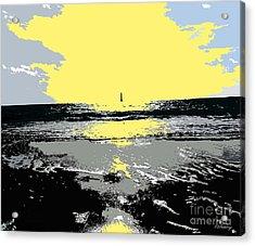 Lighthouse On The Horizon Acrylic Print by Patrick J Murphy