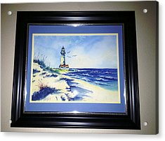 Lighthouse On The Point Sold Acrylic Print