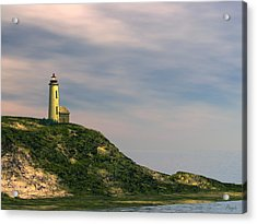 Acrylic Print featuring the digital art Lighthouse Point by John Pangia