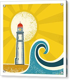 Lighthouse Poster.vector Vintage Acrylic Print