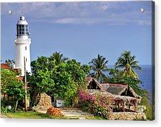 Lighthouse Santiago De Cuba Acrylic Print by Lynn Bolt