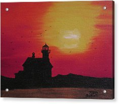 Lighthouse Silhouette Acrylic Print