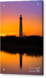 Lighthouse Silhouette Acrylic Print by Michael Ver Sprill