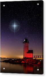 Acrylic Print featuring the photograph Lighthouse Star To Wish On by Jeff Folger