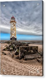 Lighthouse Steps Acrylic Print by Adrian Evans