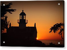Lighthouse Acrylic Print by Steve Benefiel