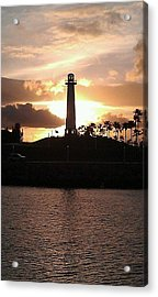 Acrylic Print featuring the photograph Lighthouse Sunset by John Glass