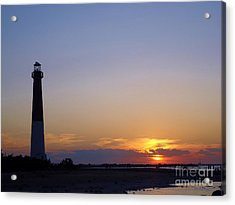 Lighthouse Sunset Acrylic Print by Art Dingo