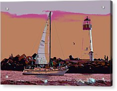 Lighthouse Tour 8940 Acrylic Print by Tom Kelly