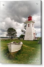 Lighthouse Victoria By The Sea Pei Acrylic Print by Edward Fielding