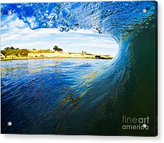 Acrylic Print featuring the photograph Lighthouse Wave 1 by Paul Topp