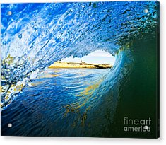 Acrylic Print featuring the photograph Lighthouse Wave 2 by Paul Topp