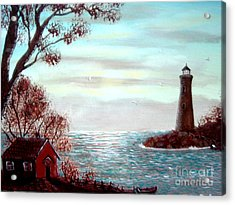 Lighthousekeepers Home Acrylic Print by Barbara Griffin