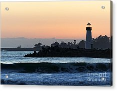 Lighthouses Of Santa Cruz Acrylic Print by Paul Topp