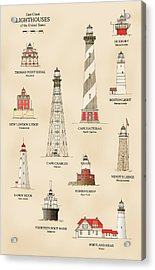 Lighthouses Of The East Coast Acrylic Print