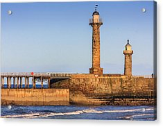 Lighthouses On The Piers Acrylic Print