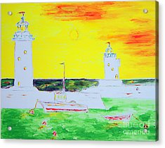 Lighthouses True Trinity Acrylic Print by Richard W Linford
