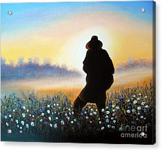 Acrylic Print featuring the painting Lighthunter by Vesna Martinjak