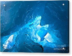 Lighting In Nigardsbreen Glacier Grotto 3 Acrylic Print by Heiko Koehrer-Wagner