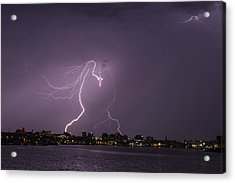 Lighting Over Portland Maine Acrylic Print