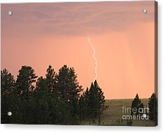 Acrylic Print featuring the photograph Lighting Strikes In Custer State Park by Bill Gabbert
