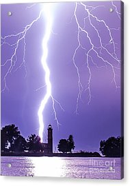 Lighting The Lighthouse Up Acrylic Print