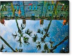 Lightner Museum Koi Pond Reflection Acrylic Print