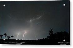 Lightning 6 Acrylic Print by Richard Zentner