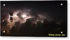 Lightning 7 Acrylic Print by Richard Zentner