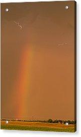 Lightning And Rainbow Acrylic Print