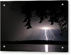 Lightning At Night Acrylic Print